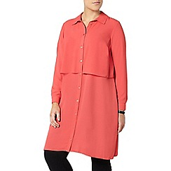 Evans - Coral orange longline shirt