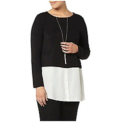 Evans - Black and ivory layered top