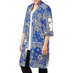 Evans - Blue aztec printed kimono