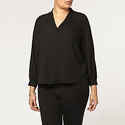 Evans - Black long sleeve shirt