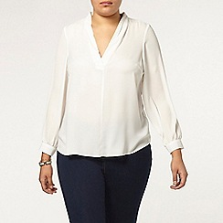 Evans - Ivory long sleeve shirt