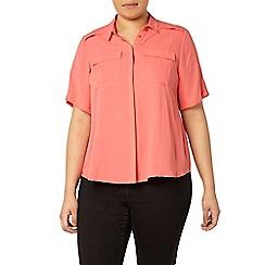Evans - Coral pocket shirt