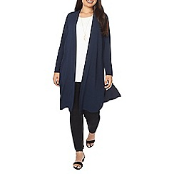 Evans - Navy long line cover up