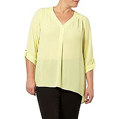Evans - Yellow crepe shirt