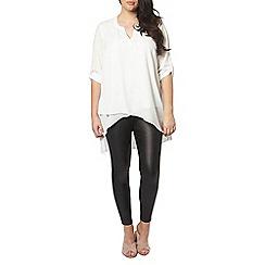 Evans - Ivory asymmetric shirt