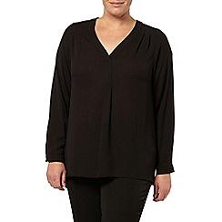 Evans - Black long sleeve shirt