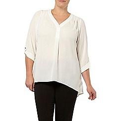 Evans - Ivory crepe shirt