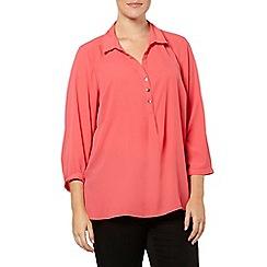 Evans - Cranberry workwear shirt