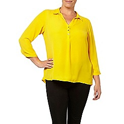 Evans - Marigold workwear shirt