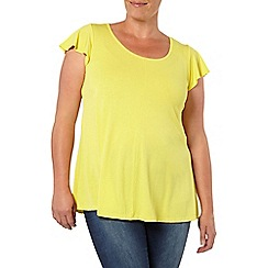 Evans - Citrus frill sleeve top
