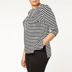 Evans - Black and white striped top