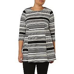 Evans - Black and white stripe tunic