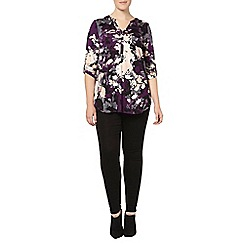 Evans - Purple oriental print shirt