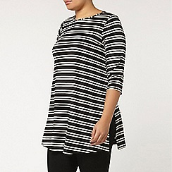 Evans - Black and white stripe tunic