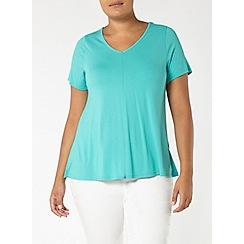 Evans - Aqua green short sleeve top