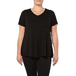 Evans - Black crepe swing top