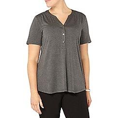 Evans - Grey short sleeve jersey shirt