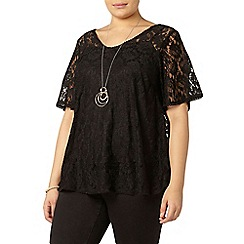 Evans - Live unlimited black lace swing top