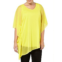 Evans - Yellow asymmetric cape top