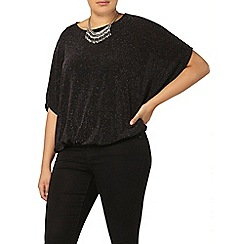 Evans - Evans black sparkle top