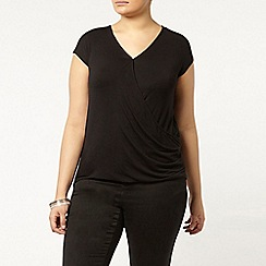 Evans - Black wrap front top