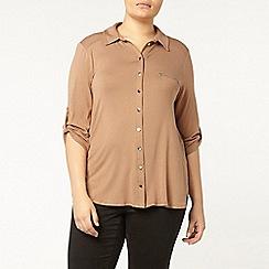 Evans - Tan jersey shirt