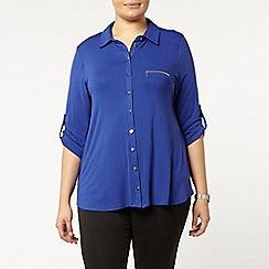 Evans - Blue jersey shirt