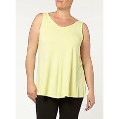 Evans - Lemon yellow swing vest