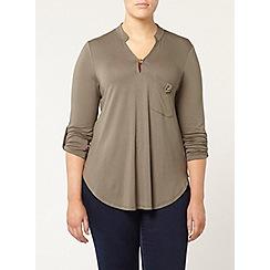 Evans - Khaki jersey shirt