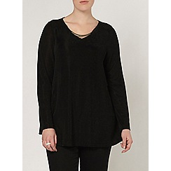 Evans - Black glitter swing top