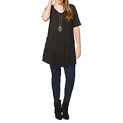 Evans - Black short sleeve tunic