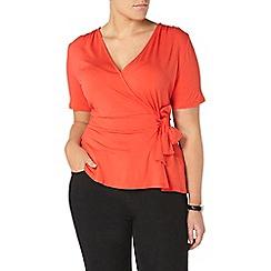 Evans - Orange hourglass fit wrap top
