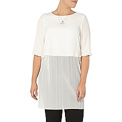 Evans - Collection ivory pleat top