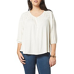 Evans - Ivory lace top