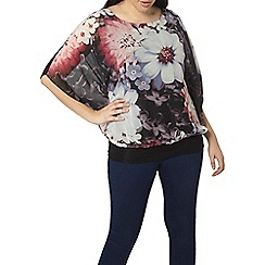 Evans - Purple floral bubble top