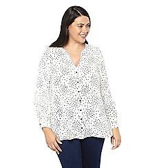 Evans - White printed frill shirt