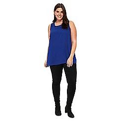 Evans - Blue built up vest top