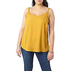 Evans - Yellow strappy camisole