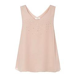 Evans - Blush pink hotfix vest
