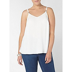 Evans - Ivory strap cami top