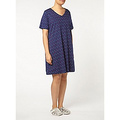 Evans - Navy circle short night dress