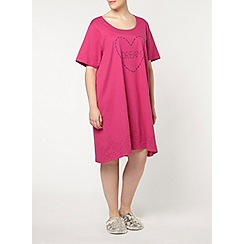 Evans - Berry stitch dream short night dress
