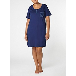 Evans - Navy spot print short nightdress