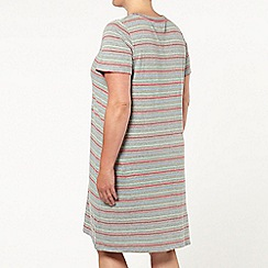 Evans - Grey stripe short nightdress