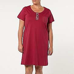 Evans - Berry short nightdress