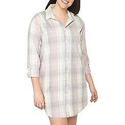 Evans - Pink woven checks night shirt
