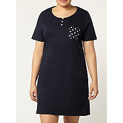 Evans - Navy floral pocket nightdress