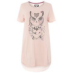 Evans - Pink woodland owl short nightdress