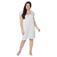Evans - Grey frill sleeves short nightdress