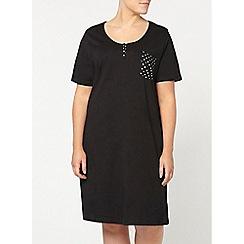 Evans - Black pocket short nightdress